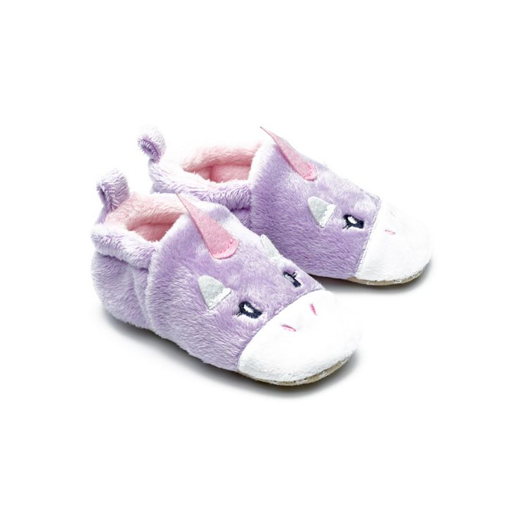 8860339f Slippers: Chipmunk Unicorn Lavender